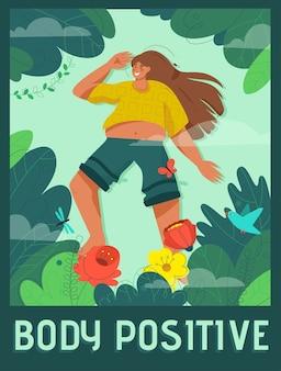 Poster del concetto di corpo positivo