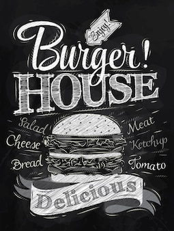 Poster burger house