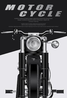 Poster chopper moto isolato