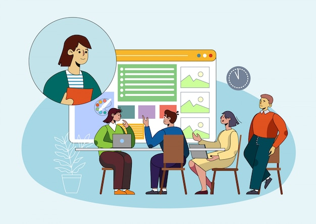 Poster coaching indicatori di crescita della discussione