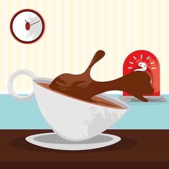 Poster dell'ora del caffè