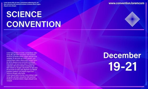 Manifesto. modello di progettazione della conferenza. elementi colorati del triangolo.