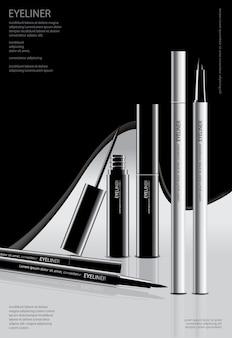 Eyeliner cosmetico con poster
