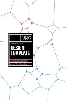 Poster design con elementi geometrici in stile moderno