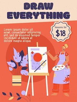Poster di draw everything concept