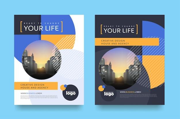 Layout del design della copertina dell'opuscolo dell'opuscolo del volantino del poster