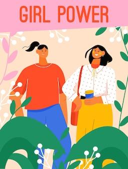 Poster del concetto di girl power