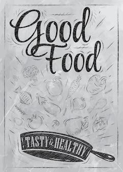 Poster buon cibo carbone