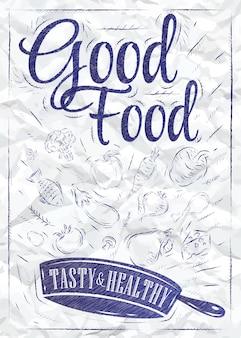Poster inchiostro buon cibo