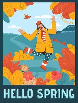 Poster di hello spring concept