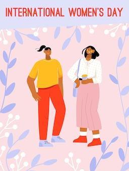 Poster del concetto di giornata internazionale della donna