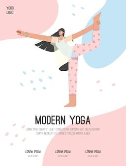 Poster del moderno concetto di yoga