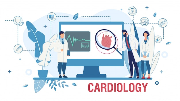 Poster che promuove il servizio cardiologico online