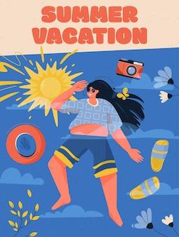 Poster del concetto di vacanza estiva