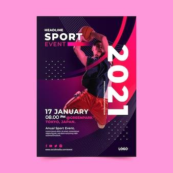 Modello di poster per evento sportivo