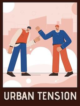 Poster del concetto di tensione urbana