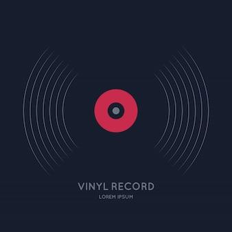 Poster del disco in vinile