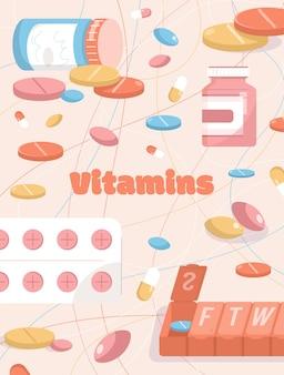 Poster del concetto di vitamine
