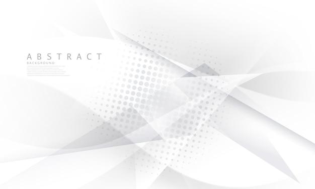 Poster con uno sfondo bianco astratto e una rete aziendale tecnologica dinamica illustrazione in formato vettoriale.