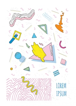Poster con forme moderne geometriche.