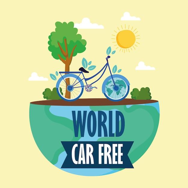 Poster della giornata mondiale senza auto