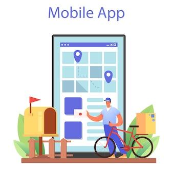 Servizio o piattaforma online di professione di postino