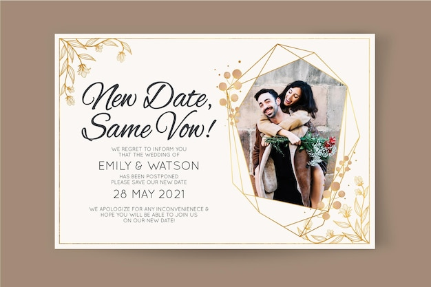 Partecipazione di nozze posposta