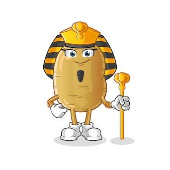 Fumetto dell'antico egitto della patata
