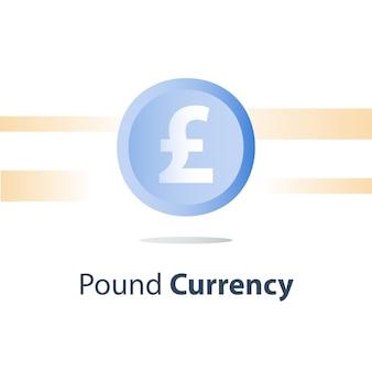 Pound moneta moneta illustrazione