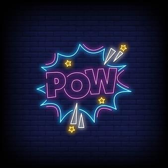 Insegne al neon pow