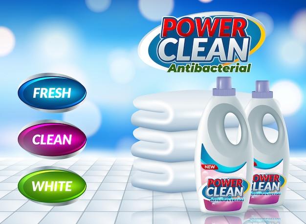 Cartellone pubblicitario detergente per bucato in polvere