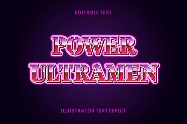 Effetto testo modificabile potente