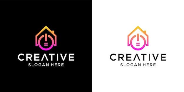 Design del logo della casa di alimentazione