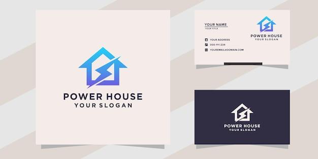 Modello di logo della centrale elettrica