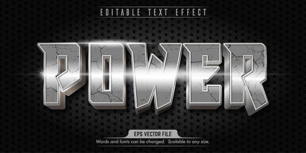 Effetto di testo modificabile in stile power