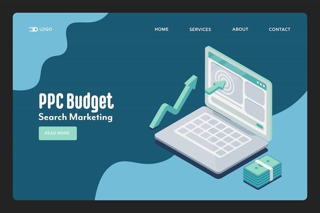 Pagina di destinazione del budget ppc