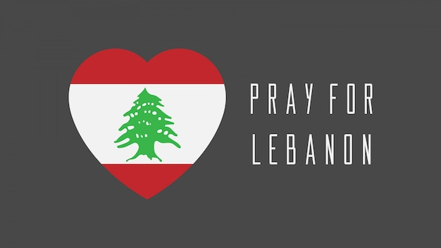 Pregate per il disegno vettoriale del libano con mappa