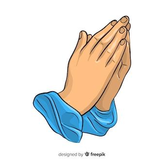 Pregando, mani, fondo