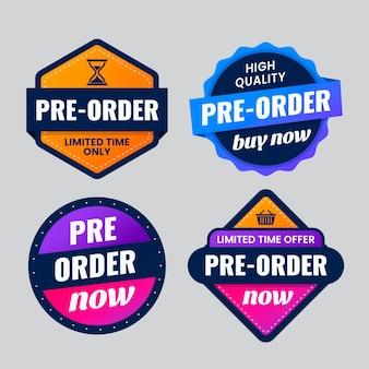 Preordina la raccolta dei badge