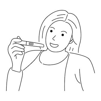 Concetto di donna incinta