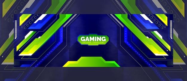 Modello di banner intestazione di gioco moderno astratto premium