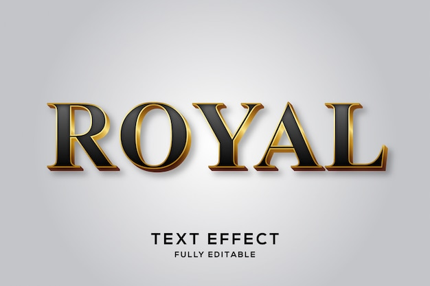 Premium black & gold royal text effect