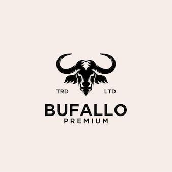Design del logo vettoriale di bufalo premium