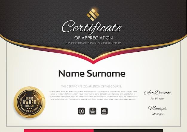 Modello di certificato premium