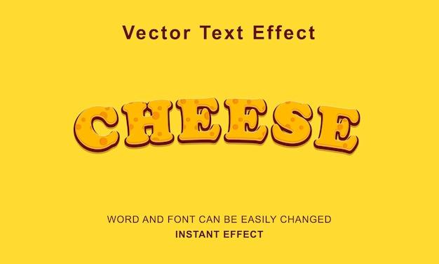 Concetto di vettore di disegno di testo effetto formaggio premium