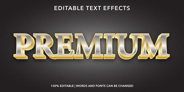 Effetto di testo modificabile premium