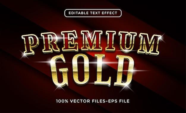 Premium gold effetto testo modificabile vettore premium
