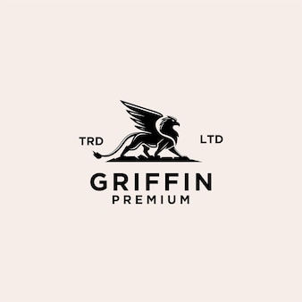 Logo vintage premium del grifone
