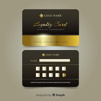Carta fedeltà premium con stile dorato