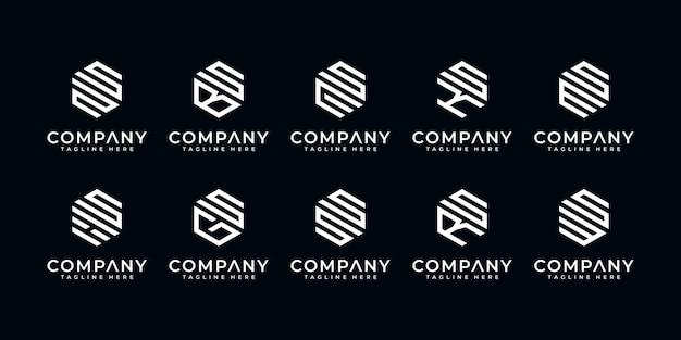 Logo creativo di lusso premium lettera se ecc. per la progettazione di logo aziendali e aziendali